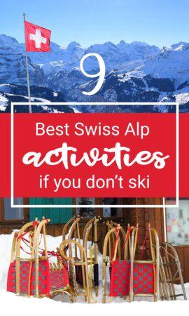 Swiss Alp Travel Activities