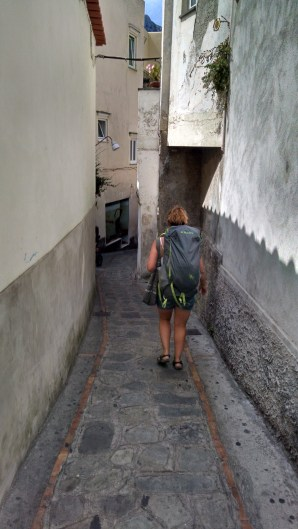 Wallking through the streets of Capri, Italy.