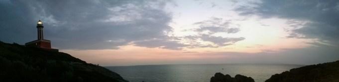 Sunset on the Island of Capri, Italy.