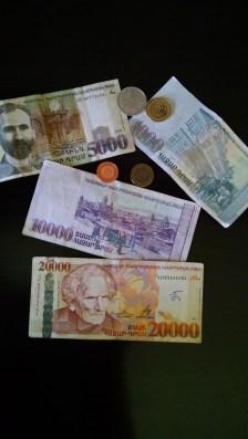 "Armenian currency called the ""Armenian Dram"""