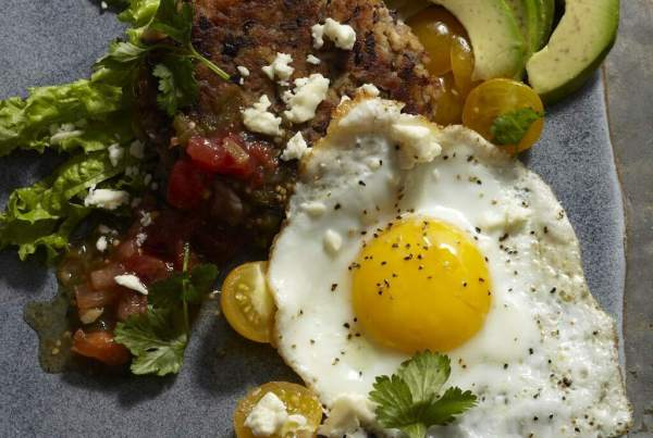 Huevos with Black Beans Hashbrowns