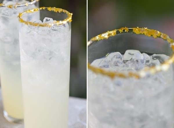 Sparkle Rimmed Glass