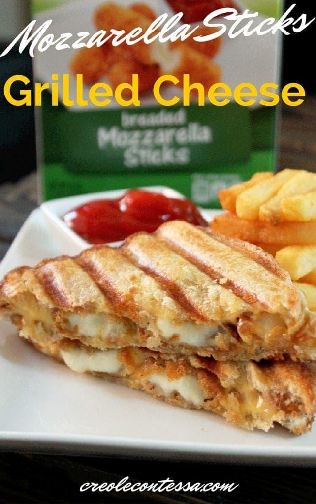 Mozzarella Stick Grilled Cheese Sandwich