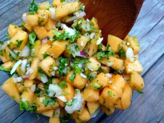Fresh Cantaloupe Salsa