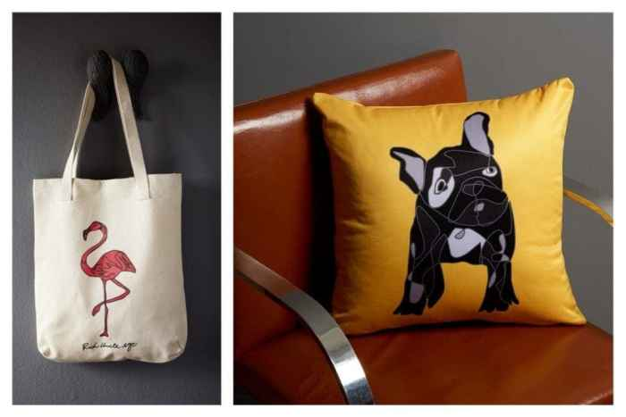 rich-uncle-nyc-flamingo-tote-french-bulldog-pillow