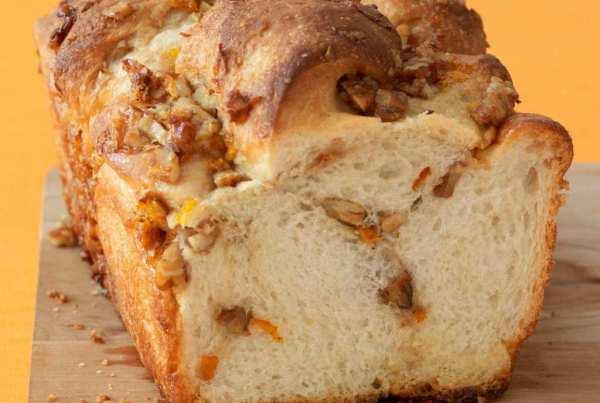 Orange Nut Swirl Bread is easy with my frozen dough hack!