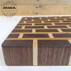 brick pattern cutting board flat