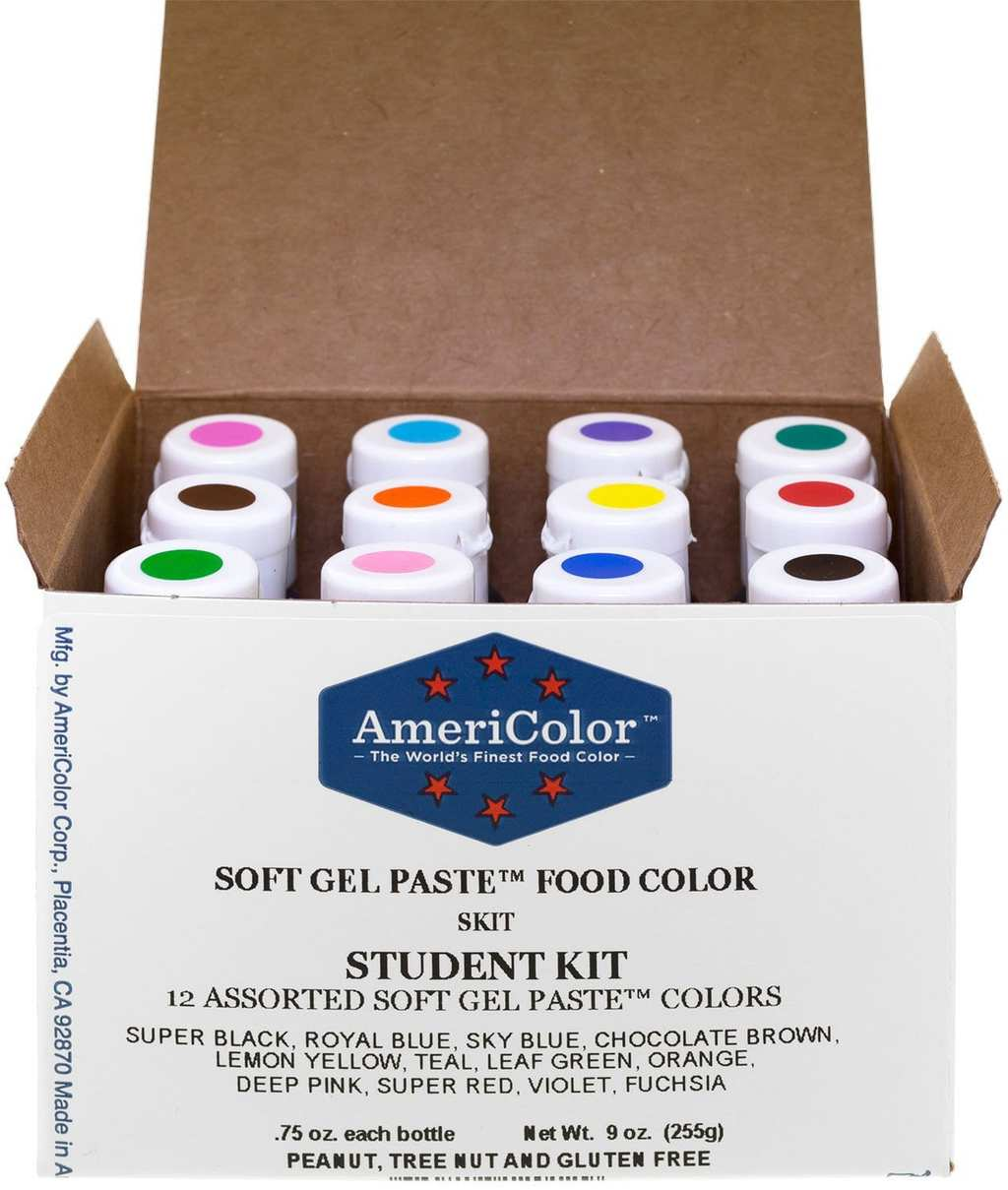 Kit 12 .75 Ounce Bottles Soft Gel Paste Colors