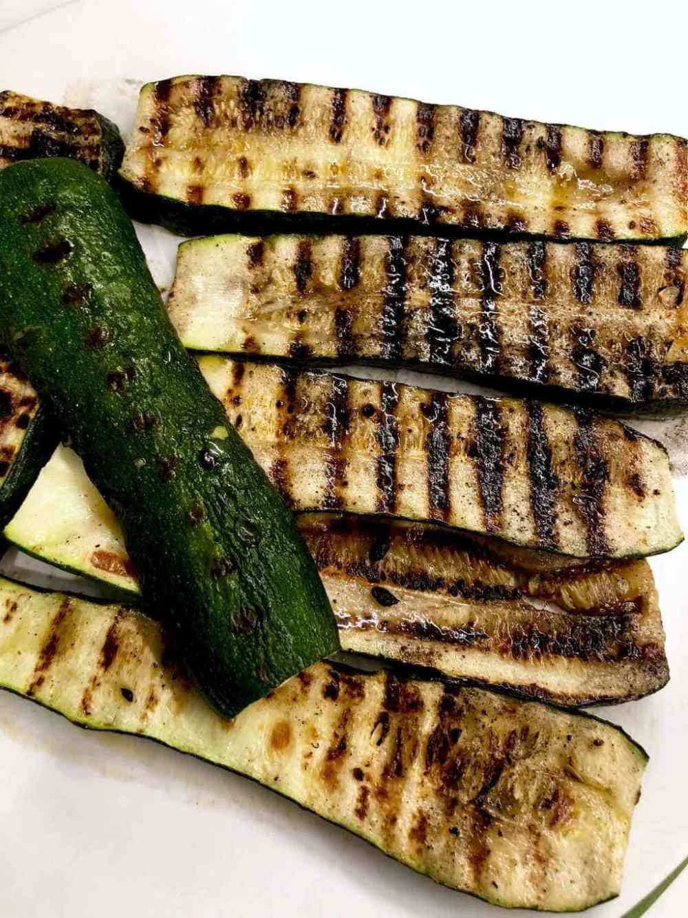 grilled zucchini on a plate