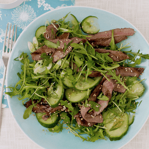 Sesame Ginger Beef Salad feature