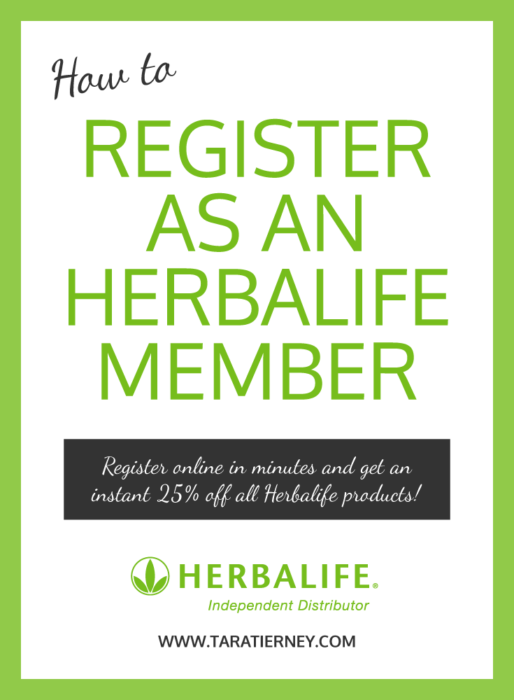 how to register as an Herbalife Member