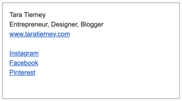 Put a Link to Your Site in Your Email Signature