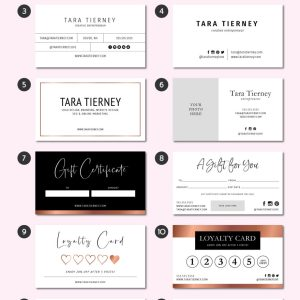 Premade Business Card Layout Options - Tara Tierney