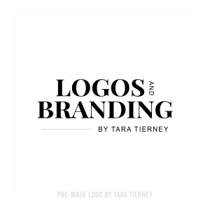 Bold Stacked Text Logo with Tagline