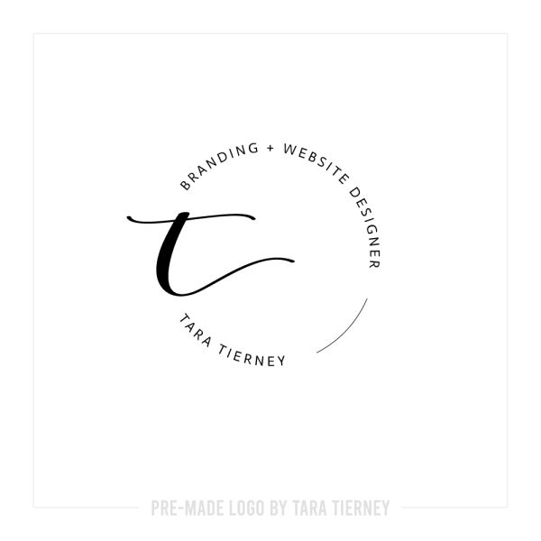 Simple Stamp Logo with Elegant Initial