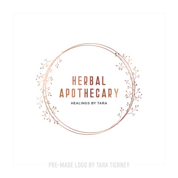 Rose Gold Herbal Apothecary Logo