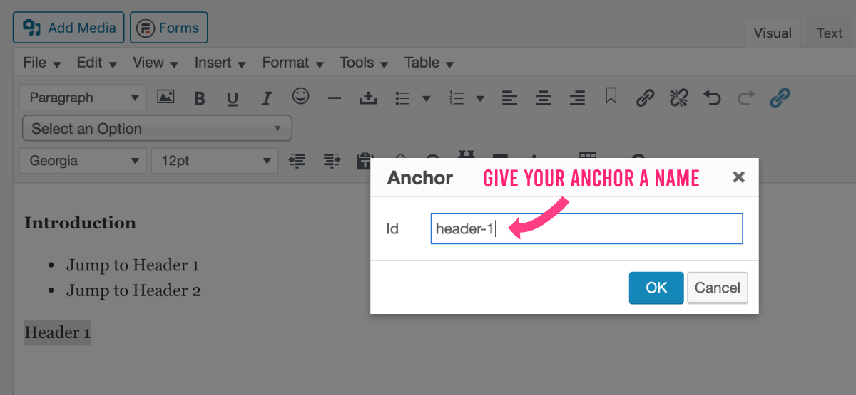 Give your anchor a name