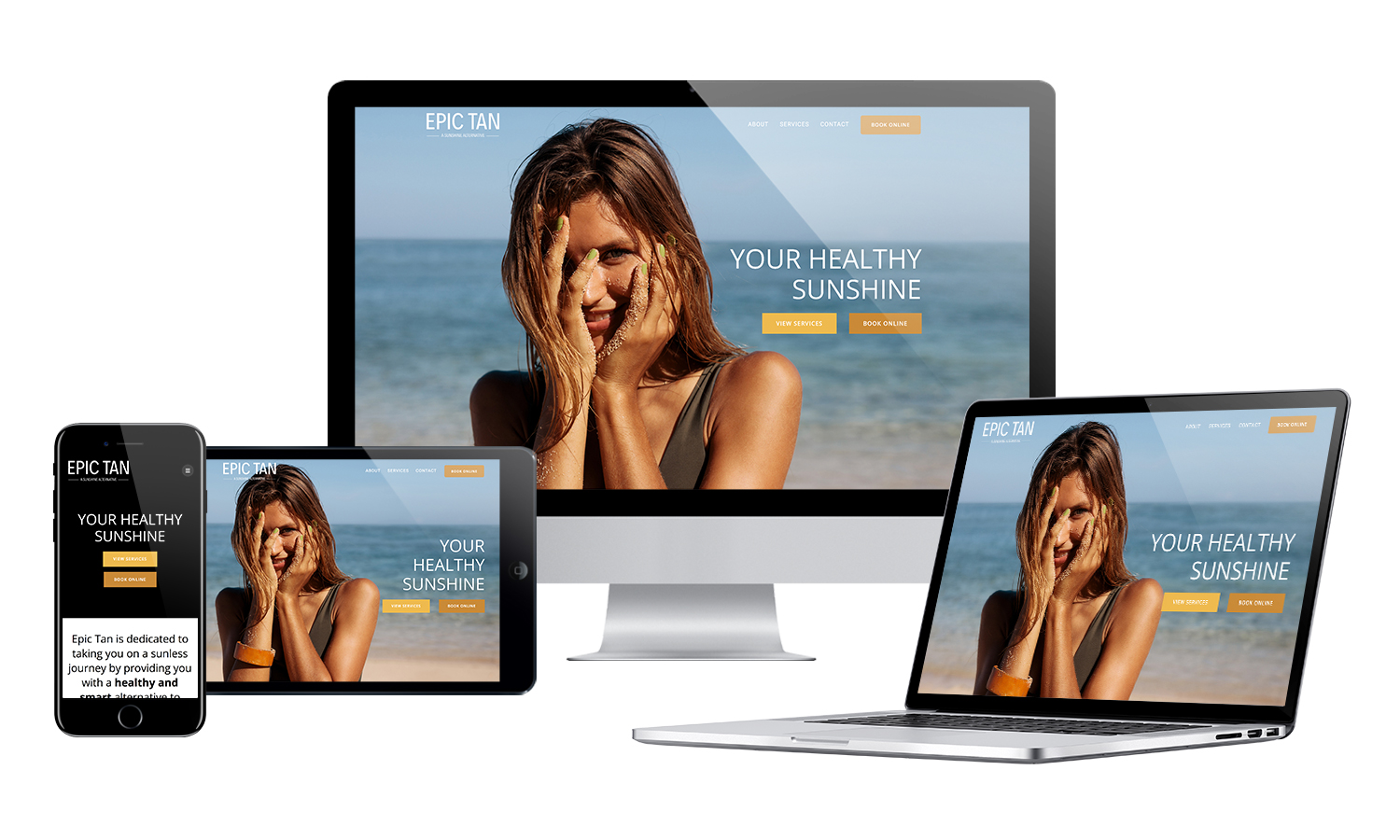 Epic Tan Website Rebrand