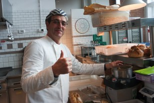 Paolo, who showed me around the bread station.