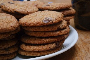 whole wheat choc chip cookies