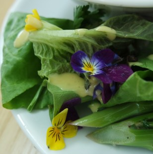 Garden Salad with Edible Flowers