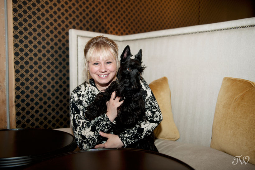 The Commons owner Erynn with her dog Sherlock captured by Tara Whittaker Photography