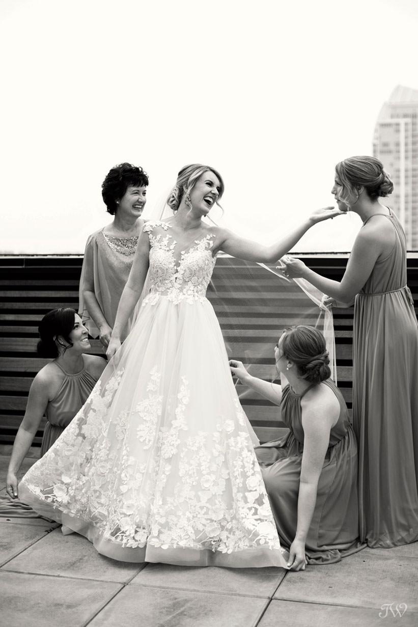 bride before her wedding captured by Calgary wedding photographer Tara Whittaker