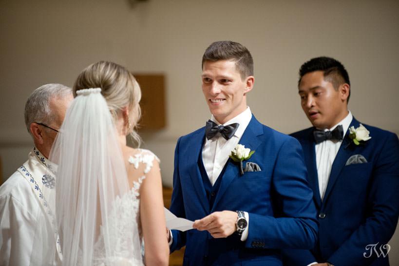 wedding ceremony at St Stephen's Church captured by Calgary wedding photographer Tara Whittaker