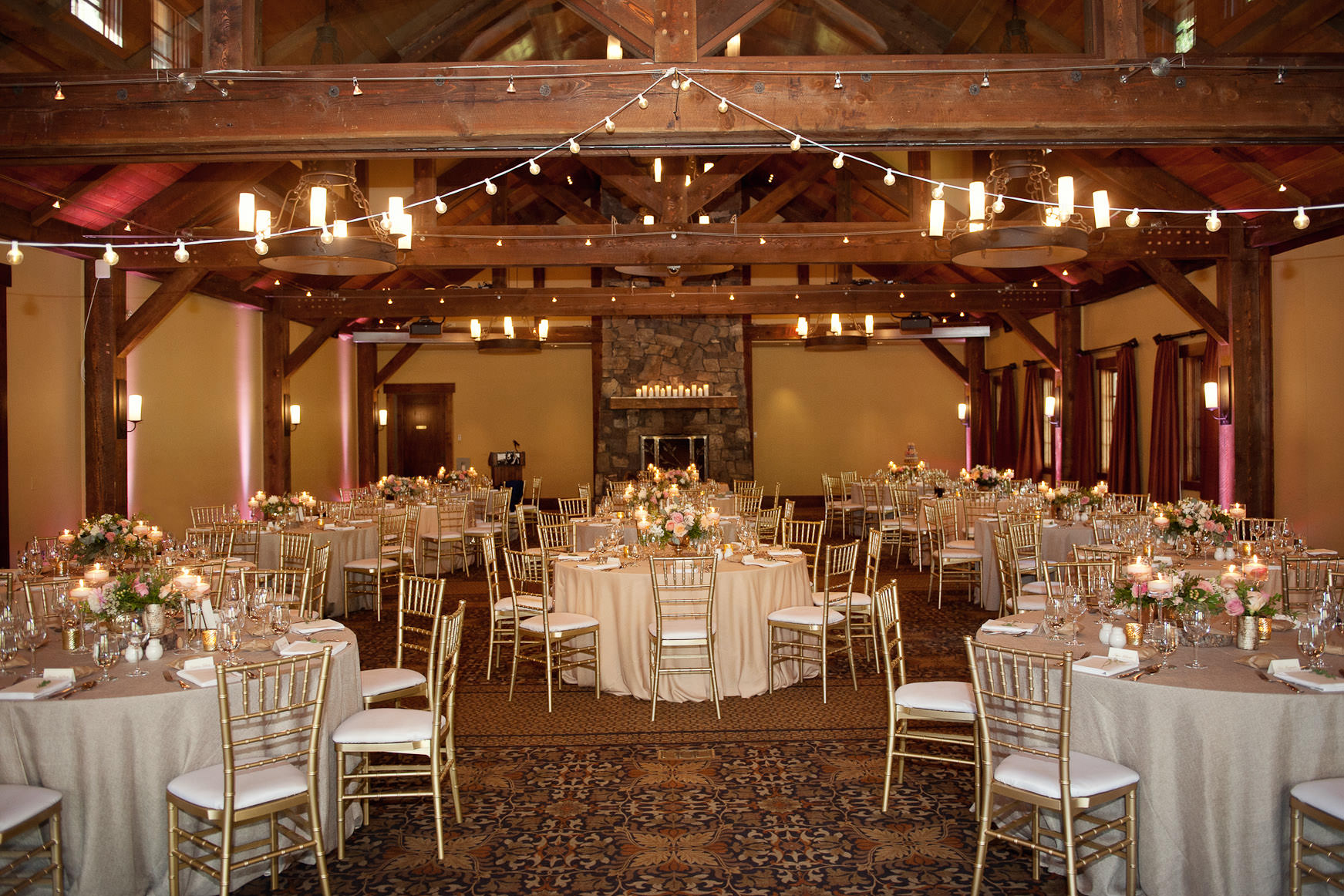 wedding reception at Silvertip one of the best wedding venues in Calgary and the rockies