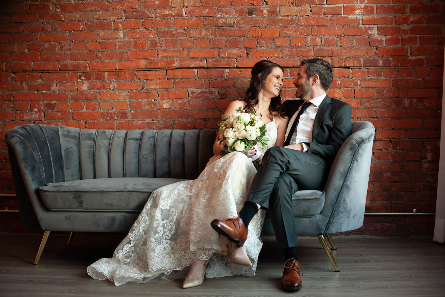 bride and groom at Venue 308 captured by Tara Whittaker Photography