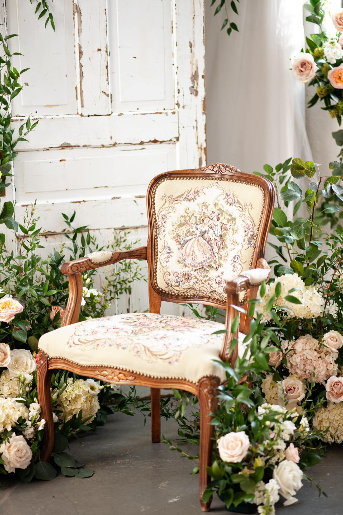 vintage chair from Orange Trunk captured by Tara Whittaker Photography
