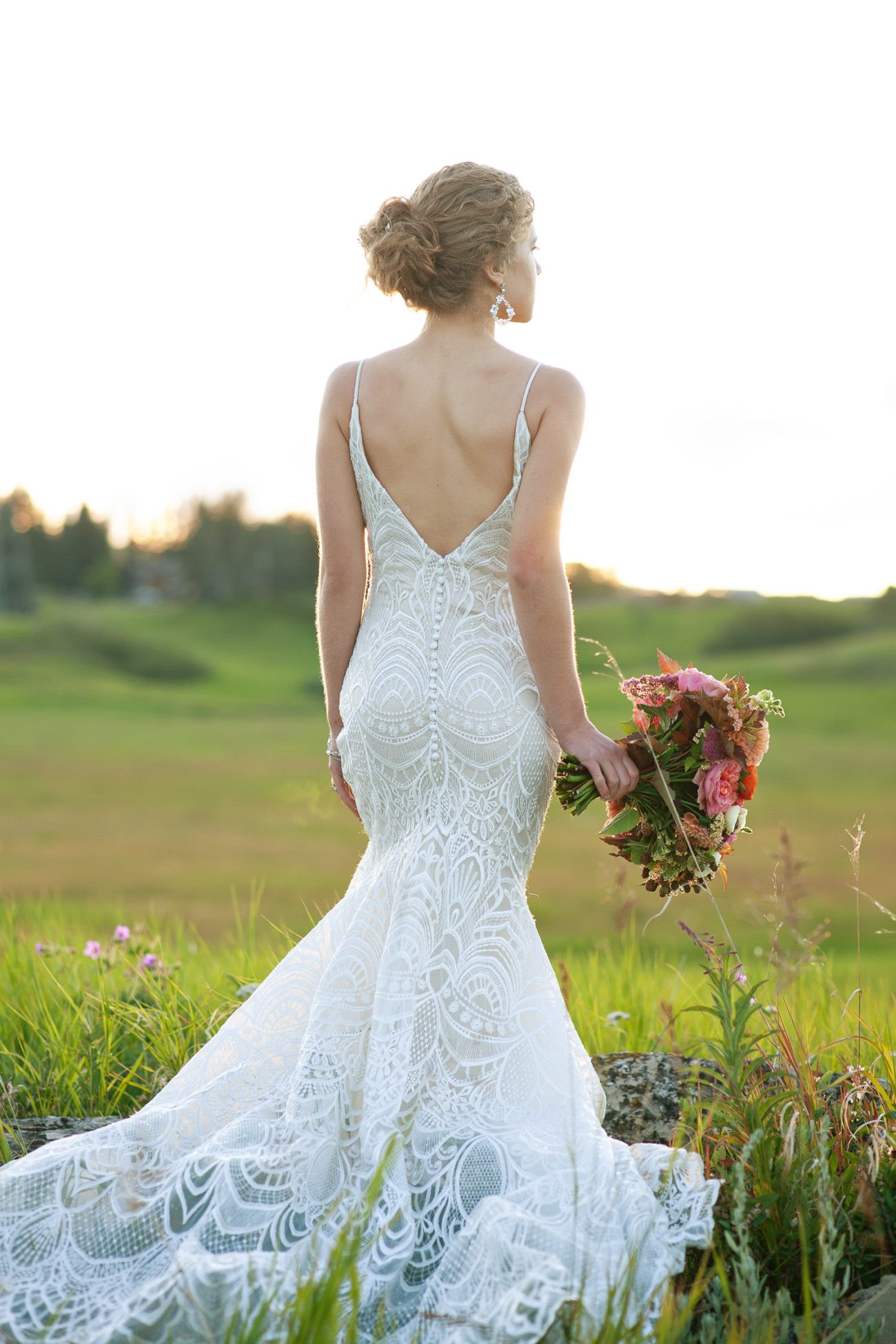 bride photographed at sunset captured by Tara Whittaker Photography