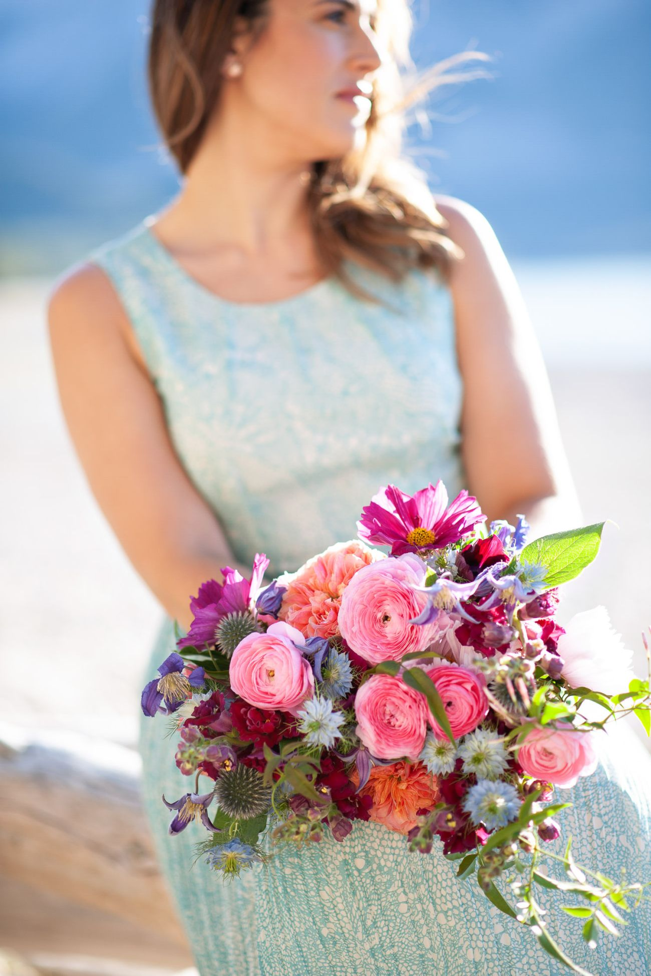 Flowers by Janie captured with a pretty summer bouquet by Tara Whittaker Photography