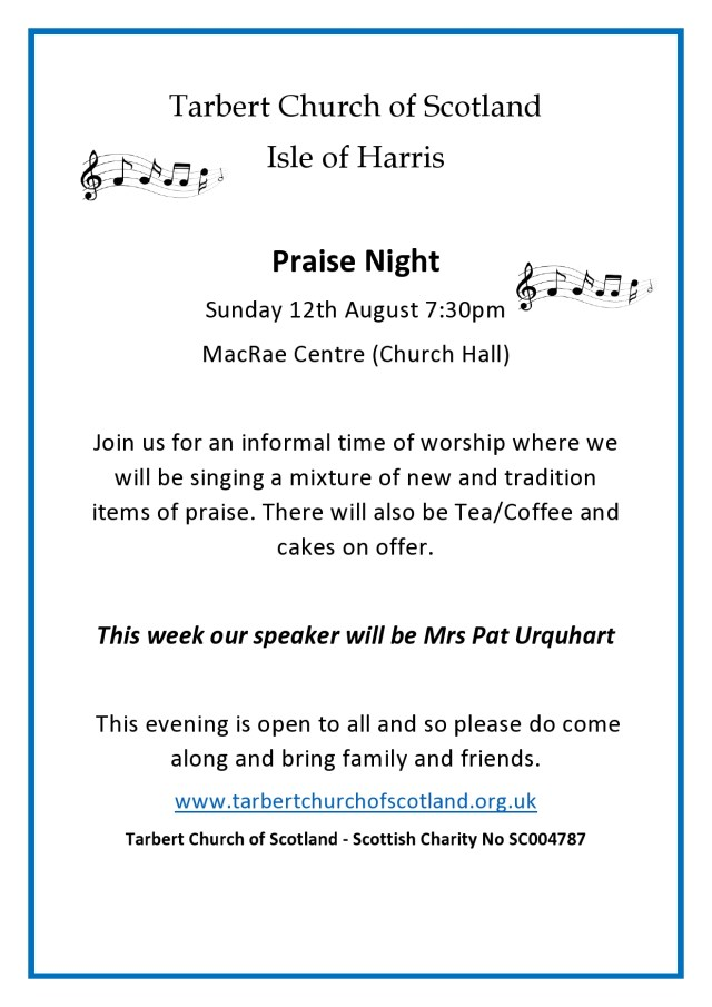 Praise Night Poster August 2018