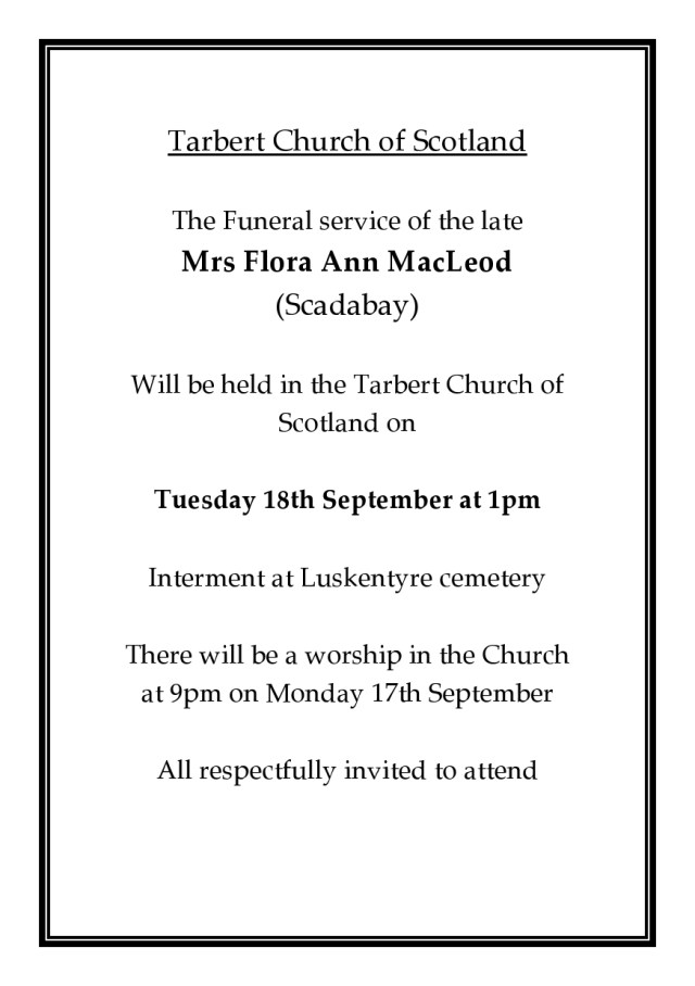 Funeral Notice Flora A MacLeod Scadabay-page0001