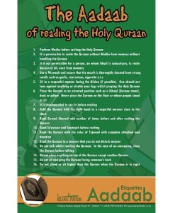 The Aadaab of reading the Holy Quran