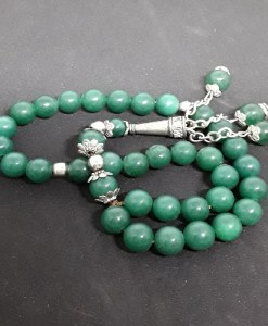 Authentic Green Jasper (Precious Stone) Prayer Beads/Tasbih in Counts of 33