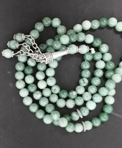 Authentic Tarquoise/Feroz (Precious Stone) Prayer Beads/Tasbih in Counts of 99