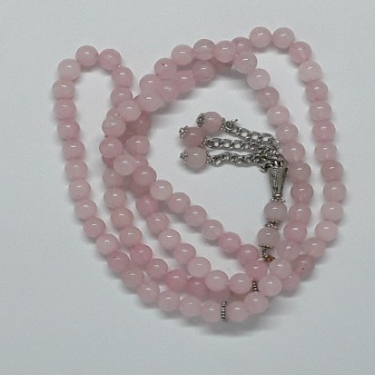 Authentic Rose (Precious Stone) Prayer Beads/Tasbih in Counts of 99