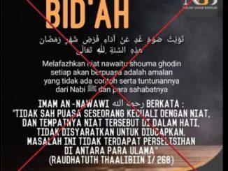 Fitnah Besar terhadap Imam Nawawi; Nawaitu Shauma Ghadin Bid'ah