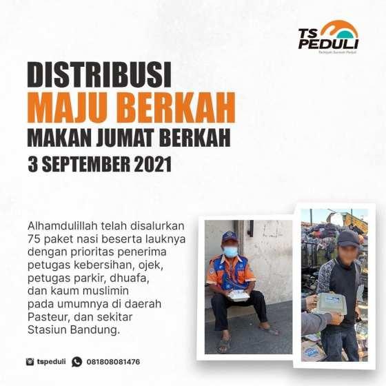 Distribusi Program Maju Berkah (Makan Jumat Berkah) Edisi 3 September 2021