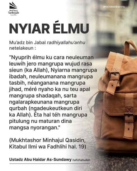 NYIAR ÉLMU – Poster Nasihat