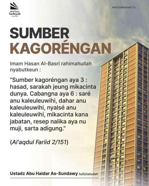 SUMBER KAGORENGAN – Poster Nasihat