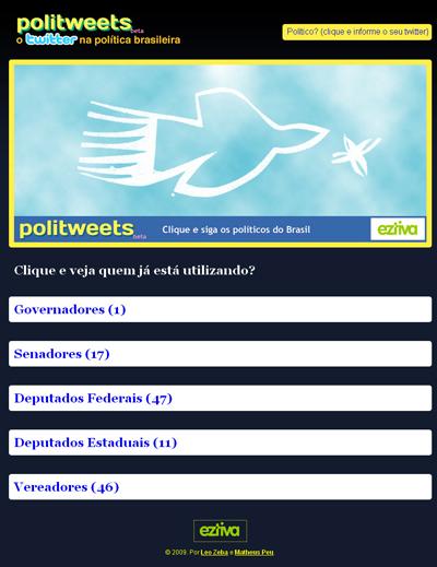 Twitter na política brasileira - politweets