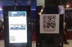 qr code volkswagen salão do automóvel