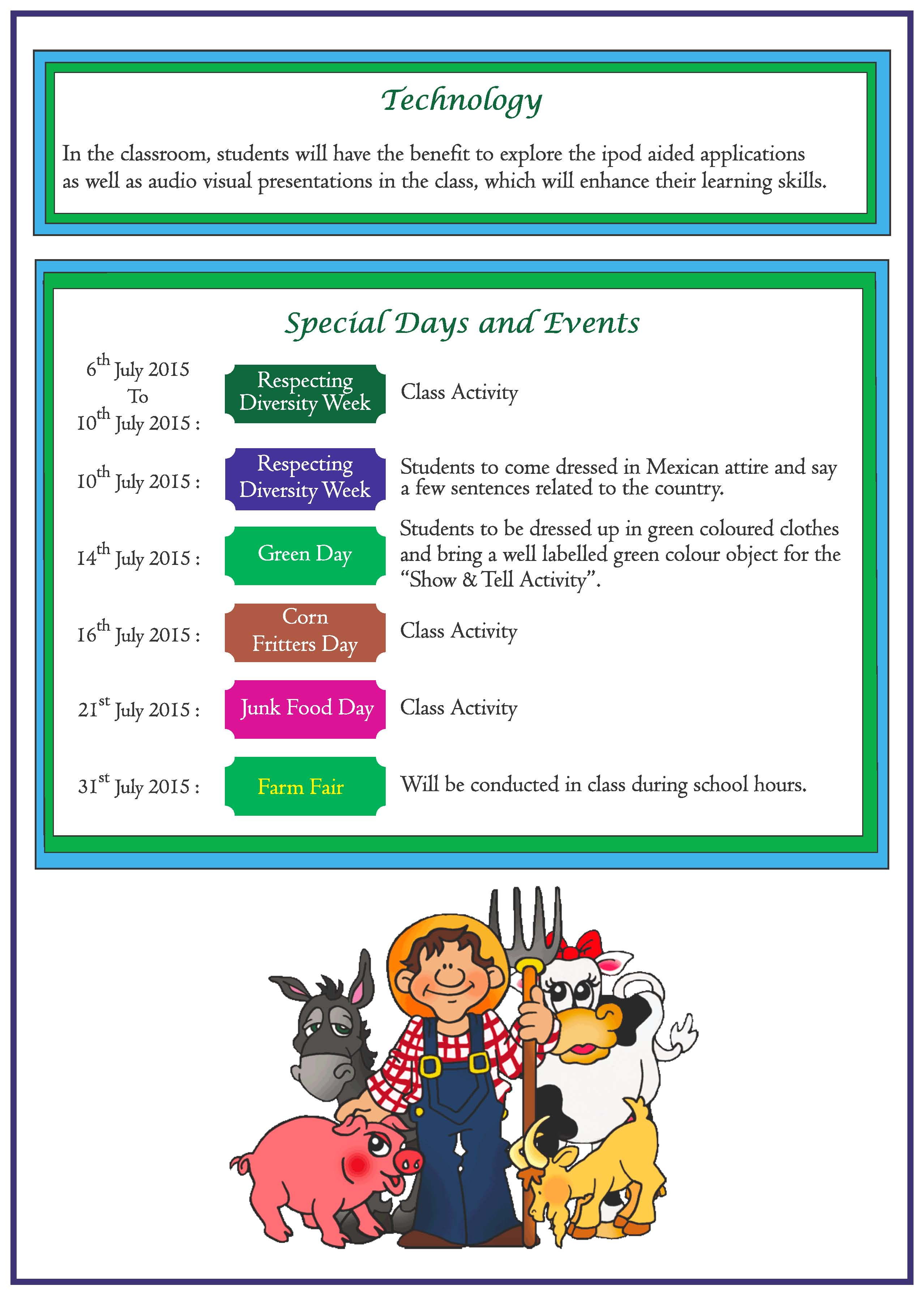 Curriculum Express For The Month Of July Nursery