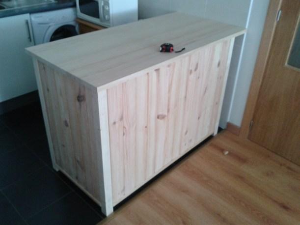 Barra de cocina de madera  Trabajos en madera y mas