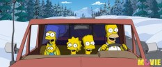The Simpsons enjoy a family outing far from their Springfield home in THE SIMPSONS MOVIE. Photo credit: Matt Groening