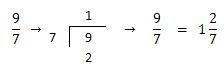 Conversión de una fracción impropia a mixta