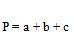 Triángulo escaleno formula